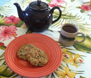 Salted Dark Chocolate Chip Cookies on plate