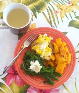 Eggs, Broccoli & Mango