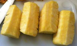 quarter pineapple