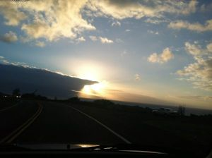View from the car Haiku to Paia