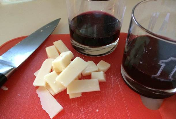 wine and parmesan appetizer