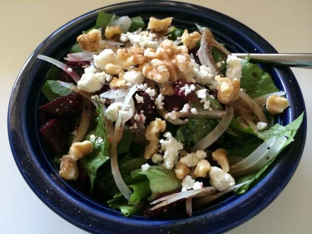 Beet, Goat Cheese and Walnut Salad 2