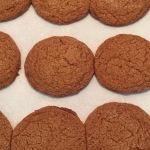 Molasses Cookies Cooling on Cookiesheet