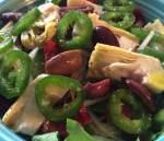 Closeup of Dressed Salad