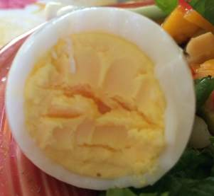 Closeup of Hard Cooked Egg
