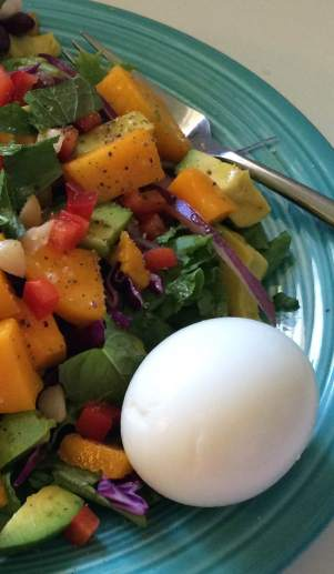 Salad with Vanilla Vinaigrette and Hard Cooked Egg